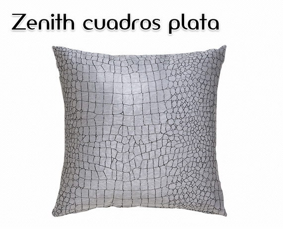 Cojín Zenith cuadros plata de HOME