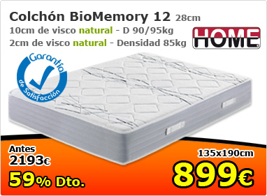 Colchón Biomemory 12