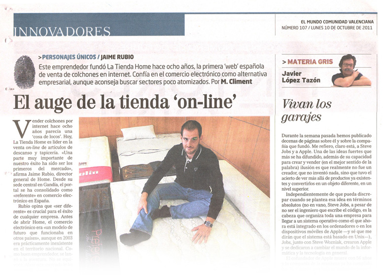 Jaime Rubio en el diario EL MUNDO