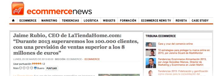 Entrevista a Jaime Rubio en Ecommerce News