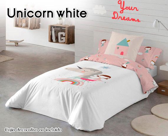 1de2aed5049 Funda Nórdica Unicorn White Hei de Haciendo el Indio