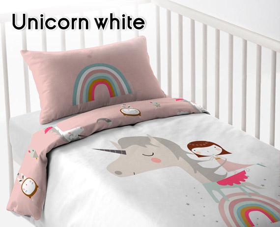 c9e978dd505 Funda Nórdica Reversible de Cuna Unicorn White Hei de Haciendo el Indio