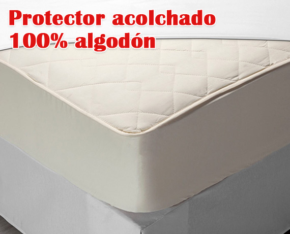 Protector Colchon 100 Algodon Acolchado De Pikolin Home