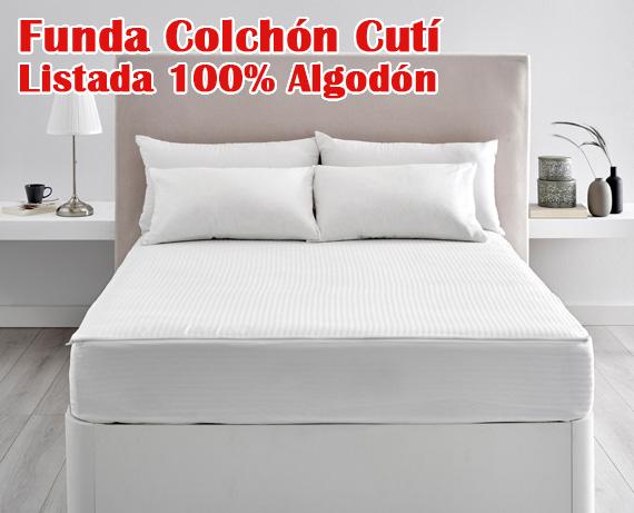 c616e712cb6 Funda de colchón cutí listado 100% algodón FC77 de Pikolin home 5 5 33
