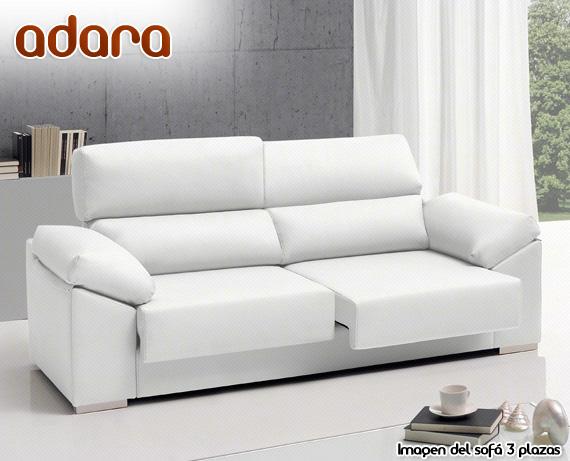 Sof de ecopiel o microfibra adara de home for Sofa blanco barato