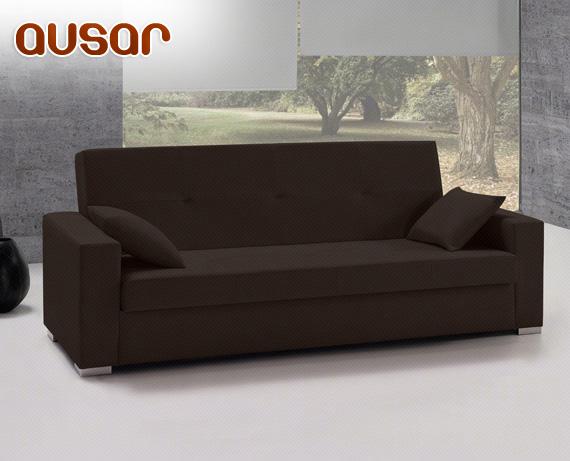 Sof cama de ecopiel ausar de home for Sofa cama rebajas