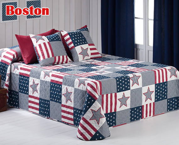 Colcha patchwork reversible Boston de HOME