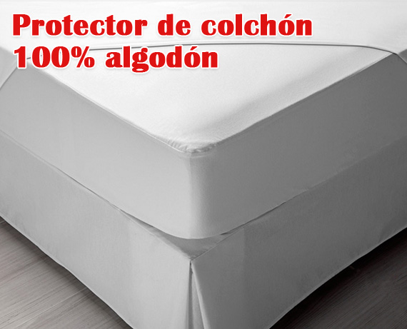 Protector de colch n algod n impermeable pp08 de pikolin home - Protector de colchones impermeables ...