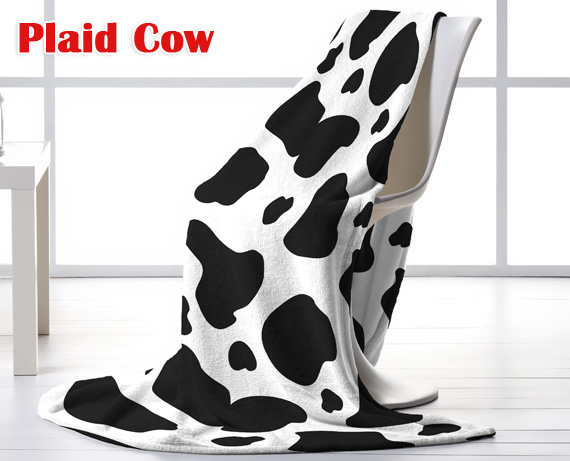 Manta plaid Cow de HOME