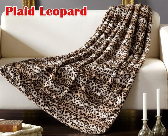 manta plaid leopard de home. Black Bedroom Furniture Sets. Home Design Ideas