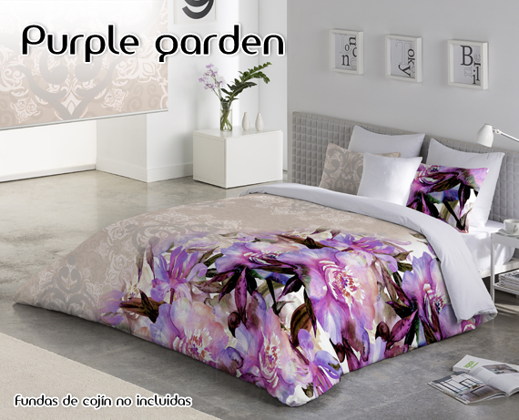 Funda nórdica 3208 Purple Garden de HOME