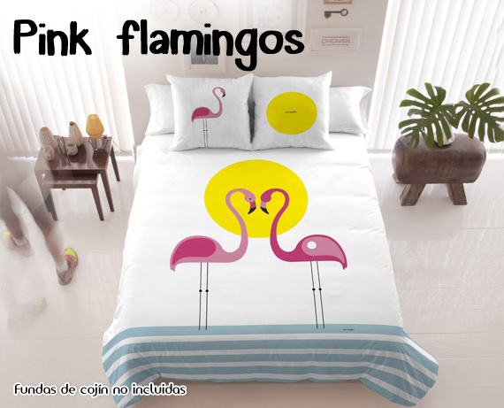 Funda nórdica Pink Flamingos de David Delfín