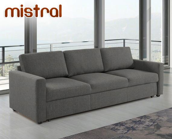 Sof cama de tela mistral de home for Sofa cama en tela