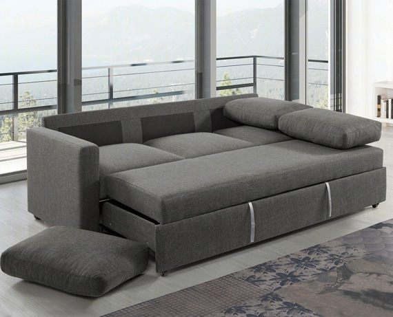 Sof cama de tela mistral de home for Sofa cama catalogo