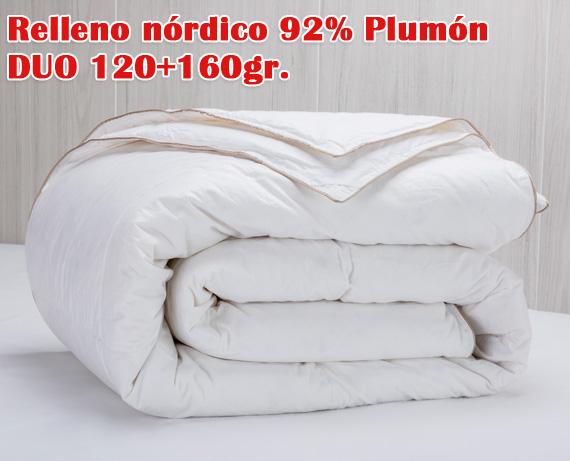 Relleno n rdico 92 plum n de oca duo 120 160g de pikolin home Relleno nordico cama 180
