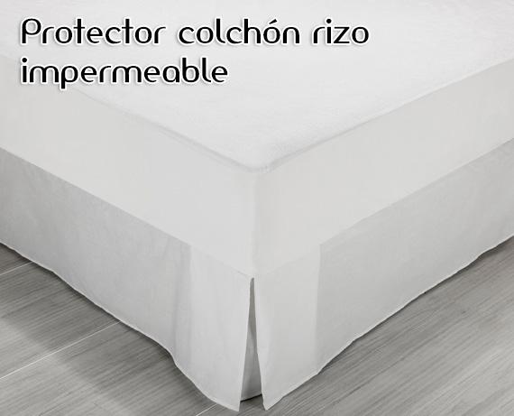 Protector colch n rizo algod n impermeable pikolin home - Protector de colchon impermeable ...