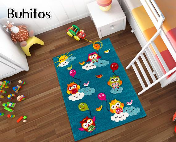 Alfombra infantil buhitos de home la tienda home for Alfombras infantiles rebajas