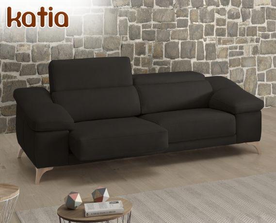 Sof de piel katia de losbu la tienda home for Rebajas sofas de piel