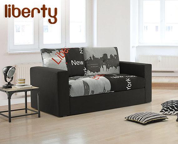 Sof cama de tela liberty de home la tienda home for Sofa cama en tela