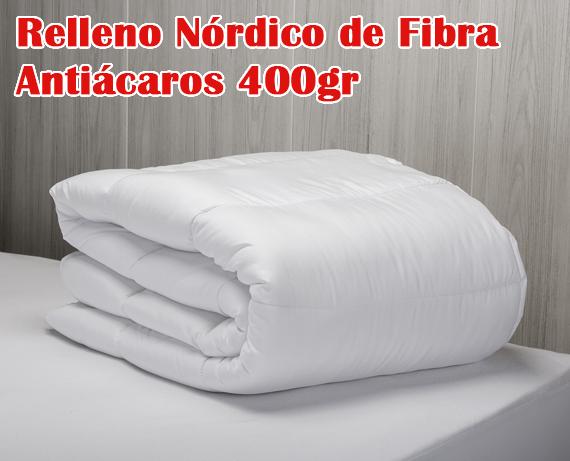Relleno n rdico de fibra anti caros 400gr rf15 Relleno nordico cama 180