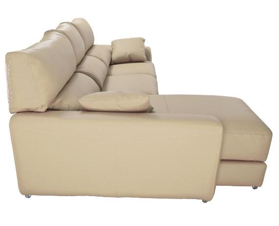 Sof chaise longue de piel kira de home for Liquidacion sofas piel