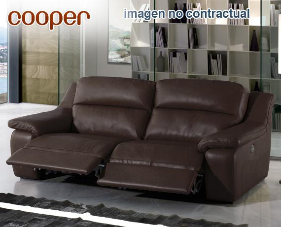 Sof de piel cooper de home for Rebajas sofas de piel