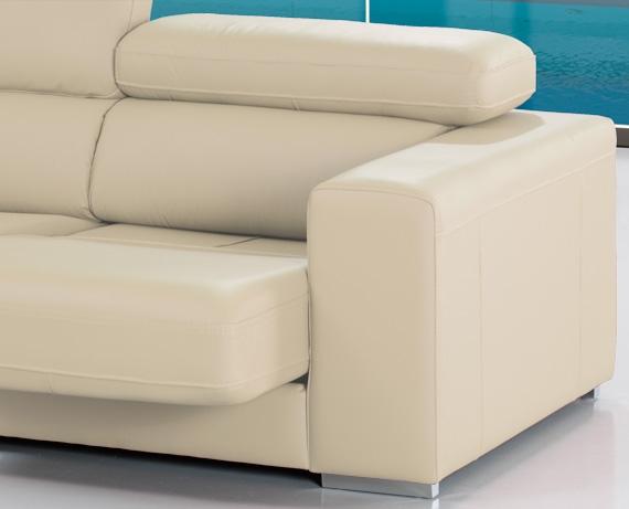 Sof chaise longue de piel jamaica de home - Marcas de sofas de piel ...
