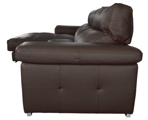 Sof chaise longue de piel birmania de home for Rebajas sofas de piel